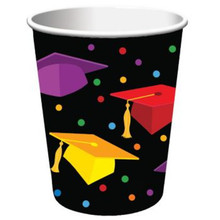 "Graduation Fest 9 oz Paper hot cold Cups 18 ct ""Congratulations Grad"" Party"