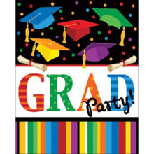 "Graduation Fest Invitations 8 ct ""Grad Party"""