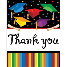 "Graduation Fest Thank you notes 8 ct ""Grad Party"""