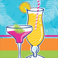 Summer Drinks Fancy Cocktail Glasses 18 Beverage Napkins