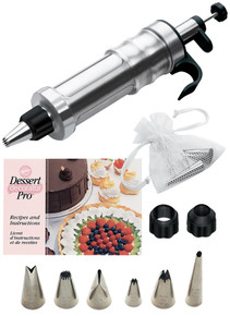 Wilton Dessert Decorator Pro Tool Ergonomic 6 Tips 2 Couplers