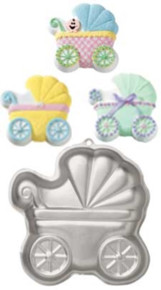 Wilton Baby Buggy Cake Pan Aluminum Baby Shower Carriage