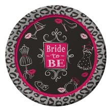 "Bridal Bash 8 9"" Dinner Plates Bachelorette Lingerie Shower Party"