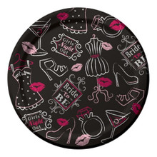 "Bridal Bash 8 7"" Dessert Plates Bachelorette Lingerie Shower Party"
