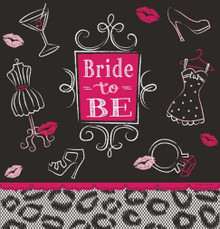 Bridal Bash Tablecover 54 x 102 Plastic Bachelorette Lingerie Shower