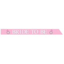 Bride to Be Satin Sash Bachelorette Pink