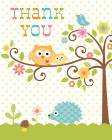 Happi Tree Thank You Notes with Envelopes 8 ct Baby Shower