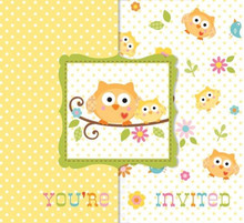 Happi Tree Invitations with Envelopes 8 ct Baby Shower