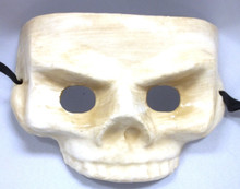Ivory White Half Skull Masquerade Halloween Party Day of the Dead Mask