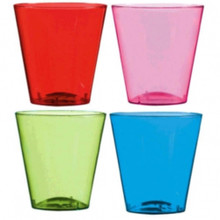 2 oz Shot Glasses 40 Ct Plastic Green Purple Red Blue Party