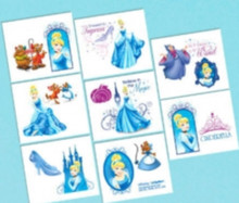 Cinderella Birthday Party 16 Tattoos Favors Loot Fillers