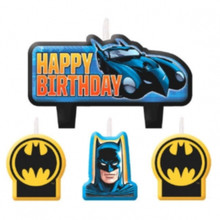 Batman 4 Pc Candle Set Cake Toppers Birthday Party