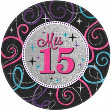 """Mis Quince Anos Sweet 15 8 9"""" Dinner Plates Quinceanera Party"""