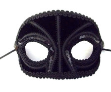 Basic Groom Black Satin Men Masquerade Prom Ball Wedding Mask