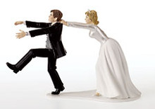 Oh No You Don't! Wilton Wedding Cake Topper Groom Humorous