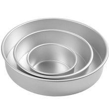 Deep Round Decorator Preferred Pan Set 3 pc Set 6, 10, 14 Pans