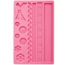 Fabric Fondant Gum Paste Mold Molds Wilton Cake Decoration Ribbon