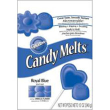 Royal Blue Wilton Candy Melts 12 oz Molds Holidays Vanilla Flavor