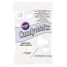 Bright White Wilton Candy Melts 12 oz Molds Holidays Vanilla Flavor