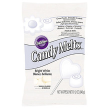 Bright White Wilton Candy Melts 12 oz Molds Holidays Vanilla Flavor