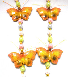 Pastel Butterfly Necklace Mardi Gras Beads