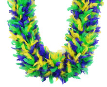 Mardi Gras Mix 80 gm 72 in 6 Ft Heavyweight Chandelle Feather Boa
