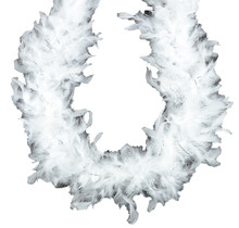 Chandelle Feather Boa White with Silver Lurex 45 gm 72 in 6 Ft