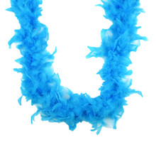 "Dark Turquoise Chandelle Feather Boa 72"" 6 FT Bachelorette Party 40 GM"