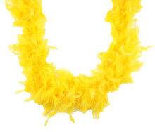 "Yellow Feather Boa 72"" 6 Ft Costume Masquerade Dress Up Chandelle 40 gm"