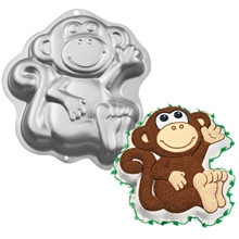 Wilton Monkey Cake Pan Aluminum 2105-1023