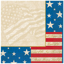USA Party Lunch Napkins 16 Ct Patriotic July 4th Memorial Veterans