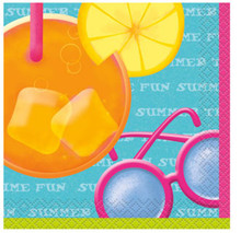 Pool Party 16 Beverage Cocktail Napkins Beach Ball Splash Summer Fun