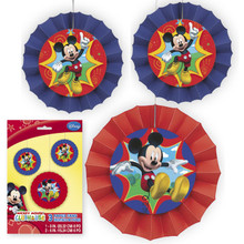 Mickey Mouse Clubhouse 3 Paper Decor Fans
