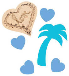 Beach Love Confetti Wedding Bridal Shower Luau Party