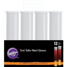 Wilton Test Tube Testtube Shot Glasses 12 Ct Halloween Treats Drinks
