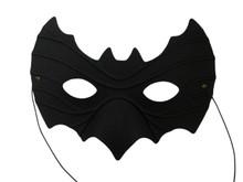 Black Bat Halloween Masquerade Mask Italian Soft Base