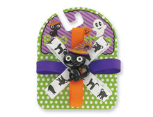 12 pc Boo Rettes Barrettes with Halloween Theme character and Ribbons