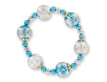 3 pc Christmas Ornament Bracelets Assorted Colors