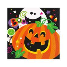 Happy Halloween Pumpkin Ghost 16 Beverage Napkins