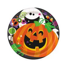 "Happy Halloween Pumpkin Ghost 8 7"" Cake Dessert Plates"