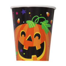 Happy Halloween Pumpkin 8 9oz Paper Hot/Cold Cups