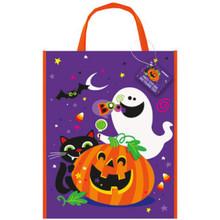 Happy Halloween Ghost Pumpkin Bat Cat 1 12 x 15 Loot Bag