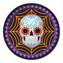 """Day of the Dead Halloween Skull 8 9"""" Dinner Plates"""