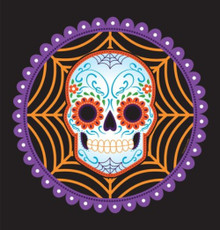"Day of the Dead Halloween Skull 54"" x 102"" Tablecover"