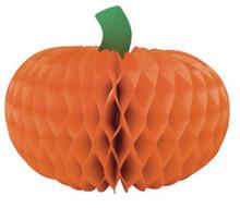 "Halloween Pumpkin 12"" Honeycomb Centerpiece 1 ct"