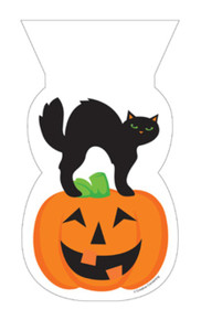Black Cat Pumpkin 20 ct Cello Bags Ties Party Halloween Treat