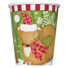 Woodland Christmas 8 Ct 9 oz Hot Cold Paper Cups Party