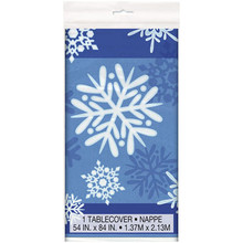 Winter Snowflake Plastic Tablecover 54 x 84 Christmas Frozen Party Supplies