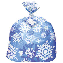 Winter Snowflake Jumbo Plastic Gift Bag Christmas Frozen Party Supplies