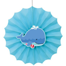 """Under the Sea Pals 12"""" Hanging Fan Decoration Baby Shower 1st Birthday"""